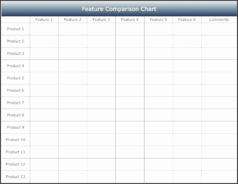 Pin Product Feature parison Matrix Template on Pinterest PSgs0q3y
