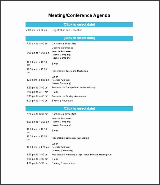 Printable Meeting Agenda Template 37