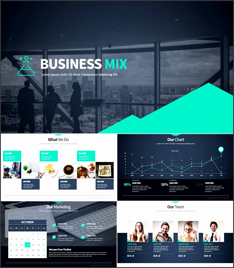 Business Mix Modern Premium PPT Presentation Set