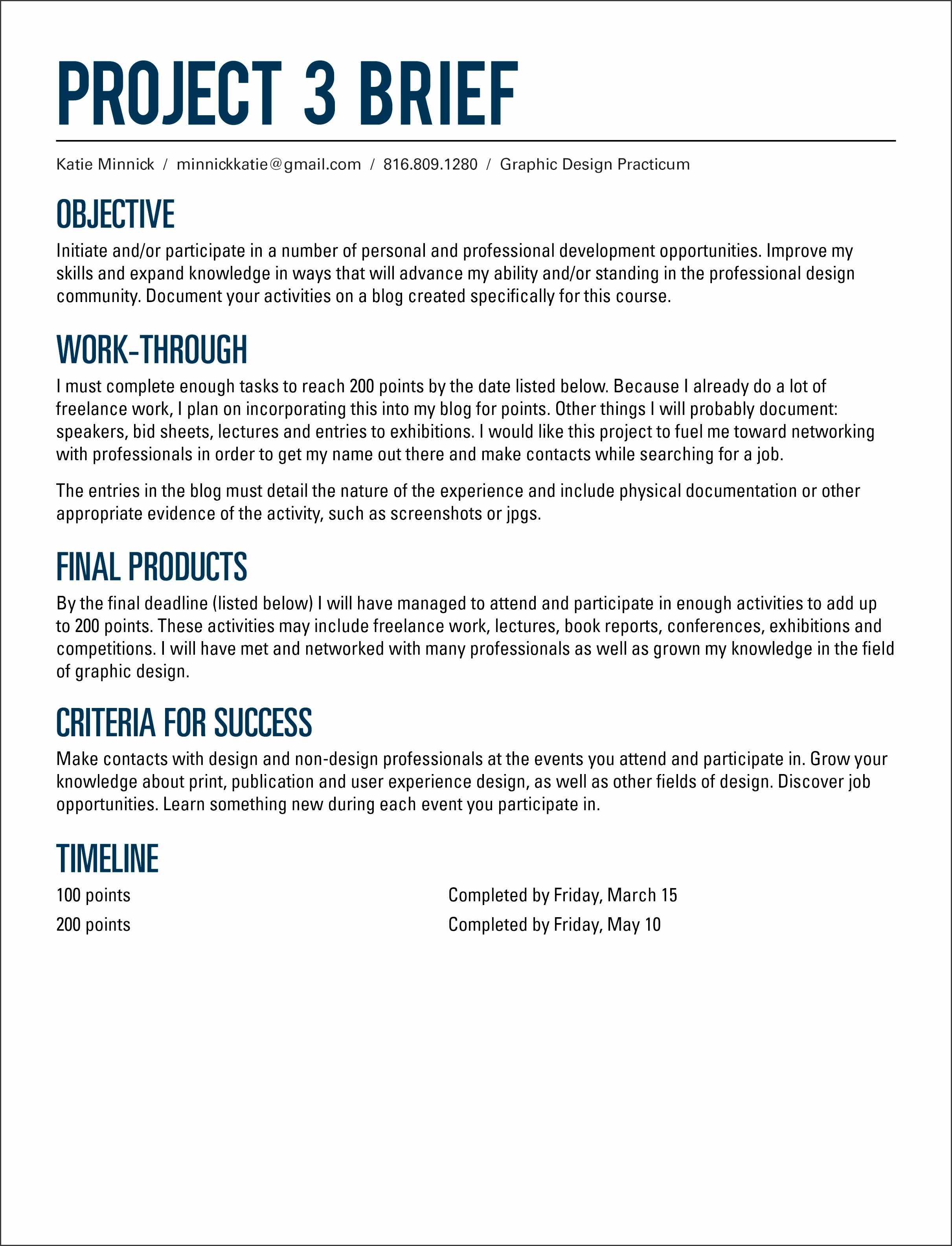 Project 3 Brief