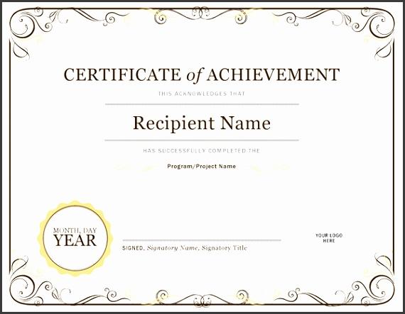Certificate pletion template imagine Certificate pletion Template Lt Illustration Delectable Achievement with medium image