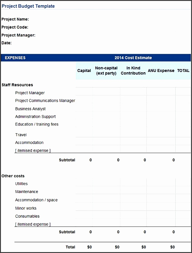 Free Project Bud Template Project Bud Template Excel Good Project Bud Template Excel to