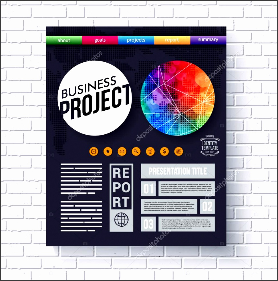 Dynamic business Project design template — Stock Vector