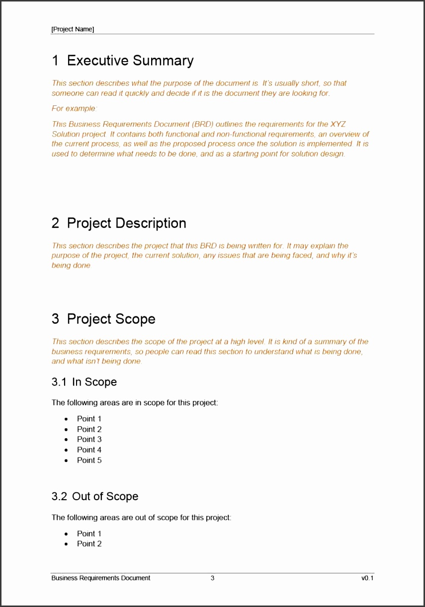 Printable business requirements document template 04
