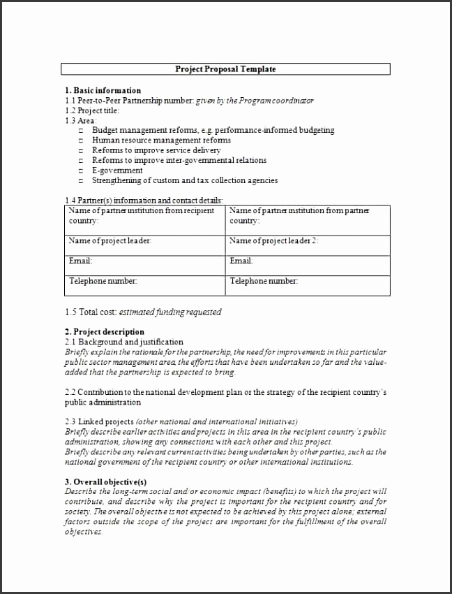 Printable project proposal template 01