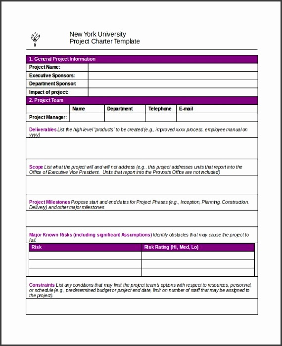 Project Charter Template 10 Free Word Pdf Documents Download pertaining to Project Charter