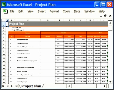 Excel Project Plan Template pertaining to Project Plan Template Excel