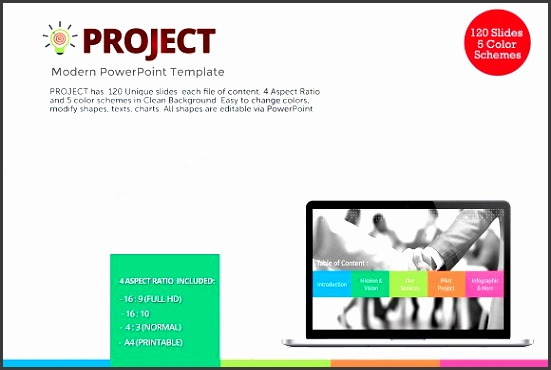 Project Modern PowerPoint Template Presentations