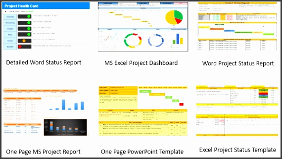 Project Status Report Template Free Downloads 10 Samples