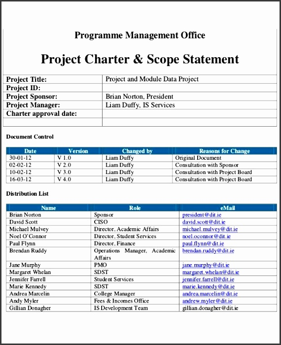 Business Charter Template 8 Project Charter Templates Free Pdf within Project Charter Template Word 6268