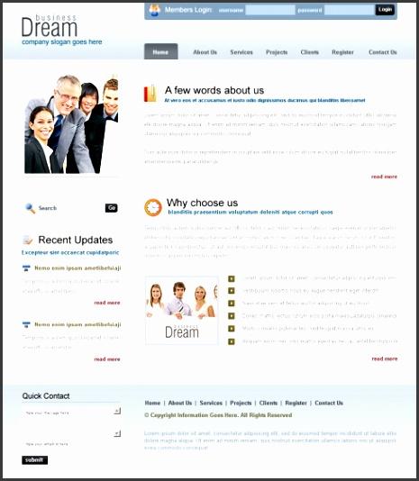 Dream Project Web Template 6393