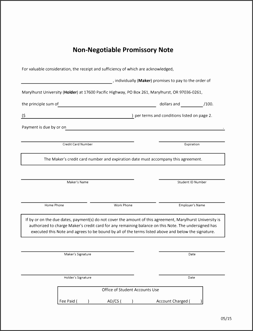 45 Free Promissory Note Templates Forms Word Pdf Template Lab Free Promissory Note Template
