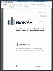 Non Smoking Property Management Sample Proposal Create your own custom proposal using the full