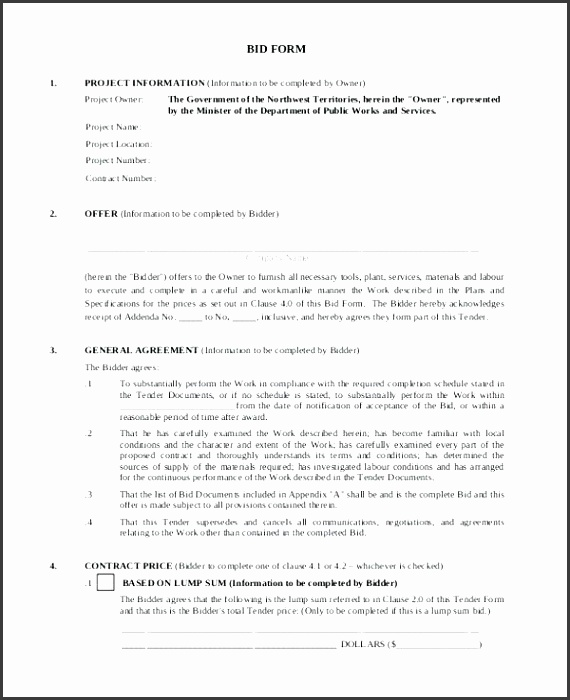 construction proposal template construction bid form sample construction proposal template pdf