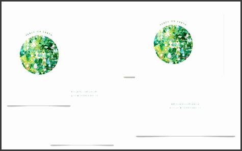 Peace Earth Greeting Card Word Template & Publisher Template