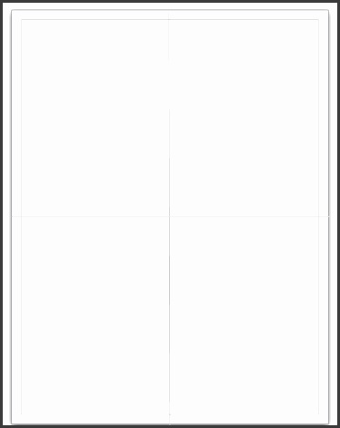 quarter card blank quarter fold card template