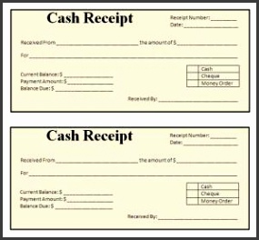 receipt format word