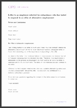 Letter to an employee selected for redundancy who has failed to respond to an offer of