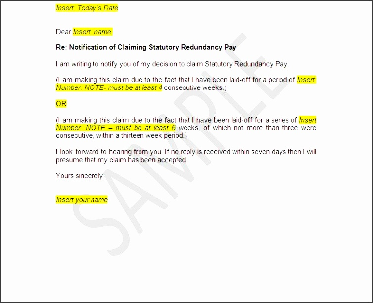5 redundancy letter template uk