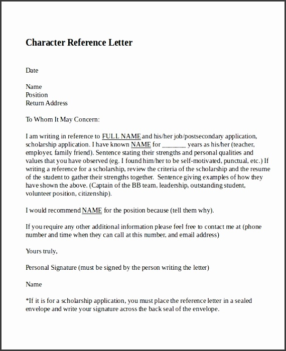 Character reference letter template revolutionary see for a friend 1 friend