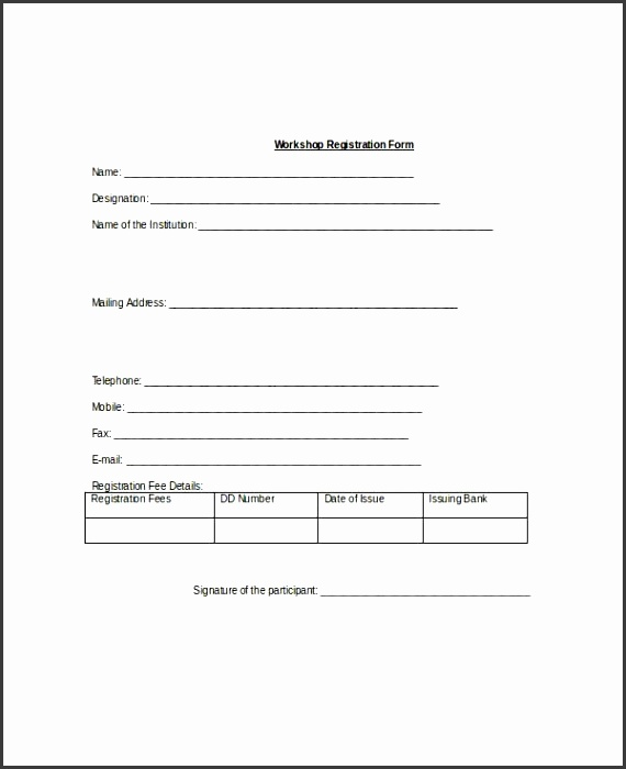 Registration Form Template 9 Free Pdf Word Documents Download regarding Registration Form Template