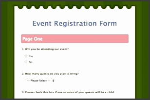Event Registration Form See this web form survey live