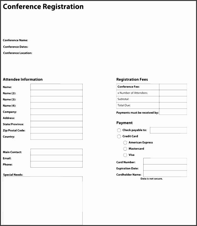 PDF Registration form Conference Registration