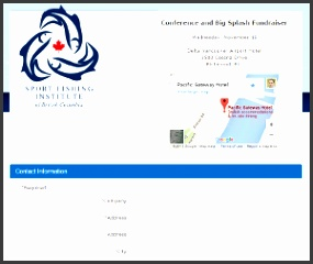 conference registration example 3