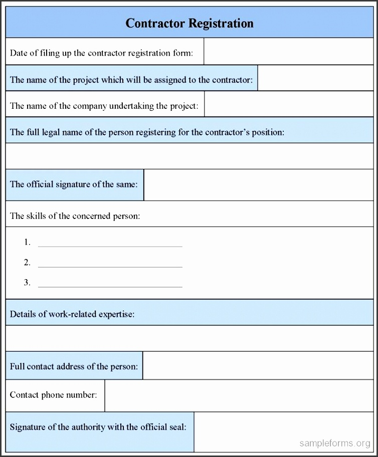 WORD FORM TEMPLATE Event Registration Form proposal bid template