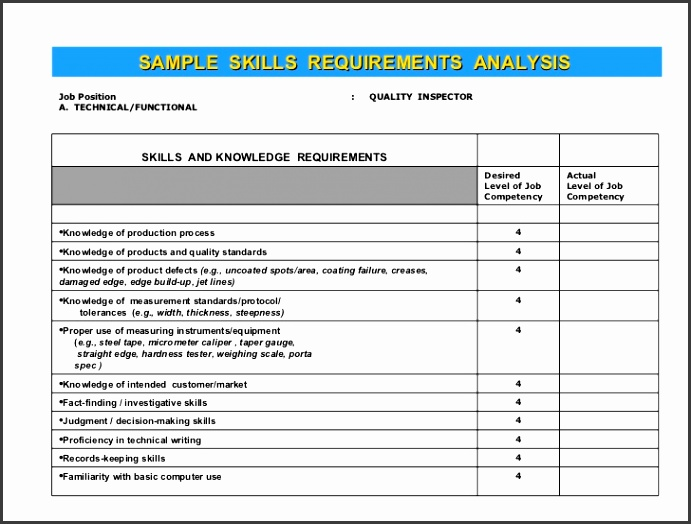 5 requirement analysis document template