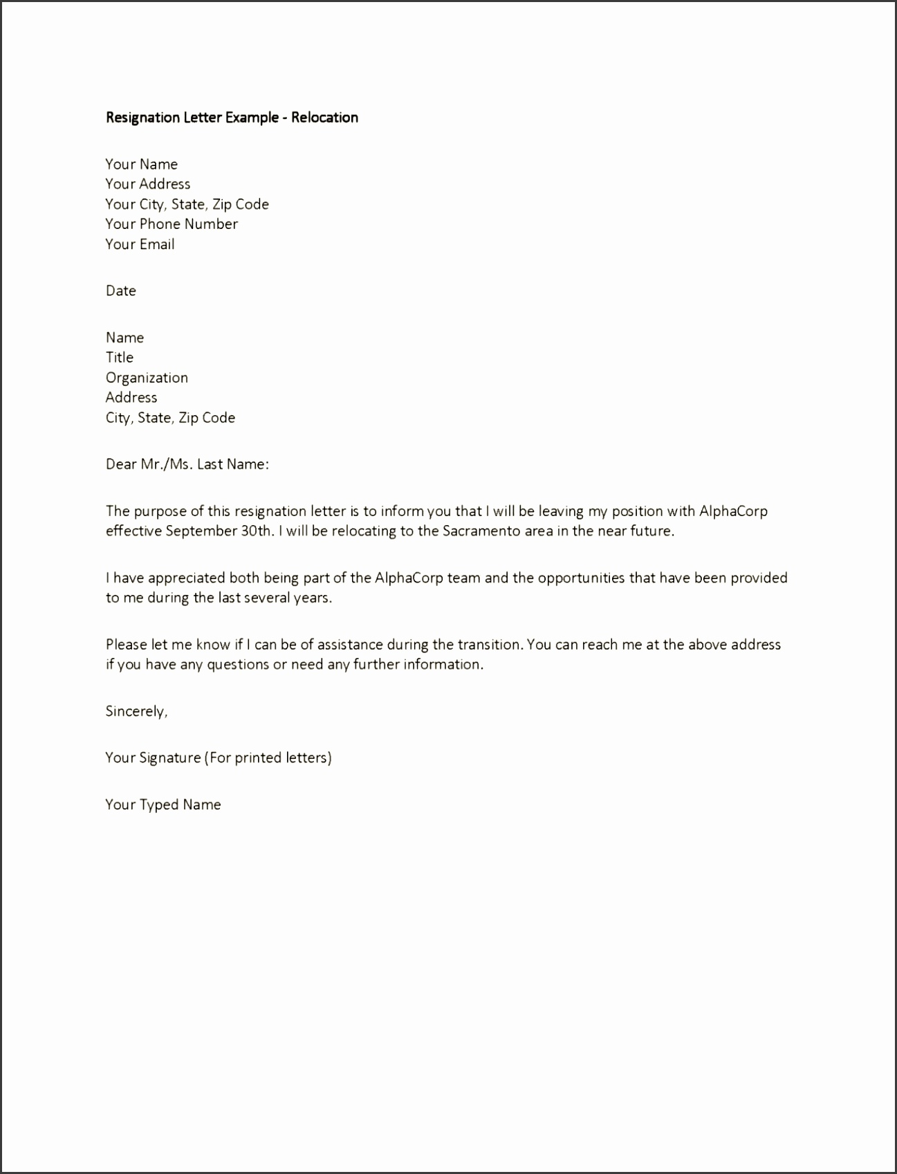 Employment Letter Template Singapore