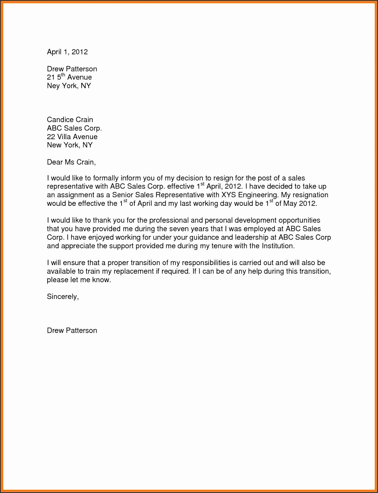 sample for resignation letter one month noticesignation letter template 1 month notice cghmnugi