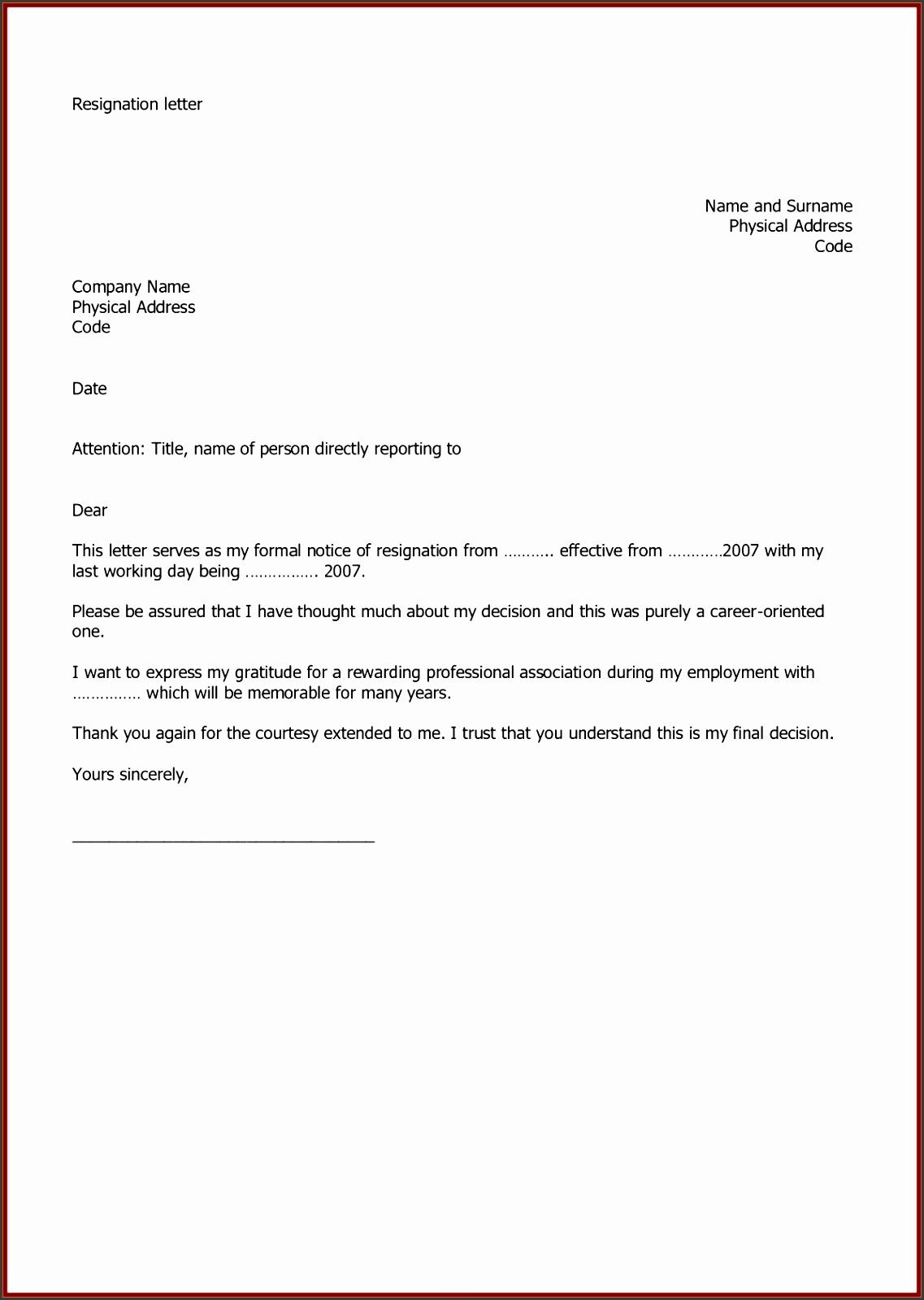 Resignation Letters Resignation Letter Template Sample Word Letter Resignation Template Uk Exolabogados Inspirational Letter Resignation Template