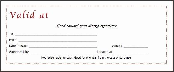 fancy restaurant voucher certificate template