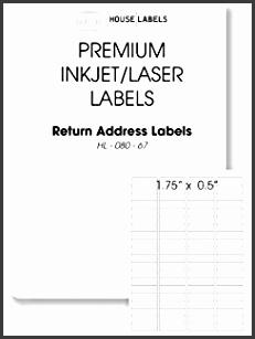 400 Sheets 32 000 Labels 80 UP Return Address Labels 0 5
