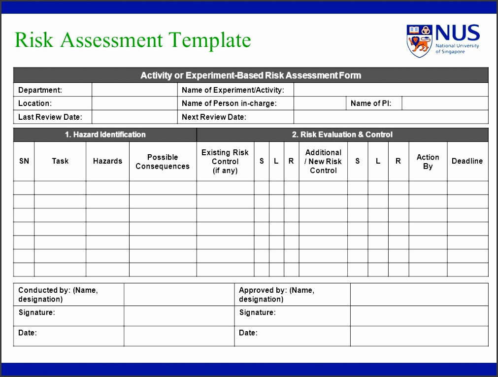 5 Risk assessment Template Download - SampleTemplatess - SampleTemplatess