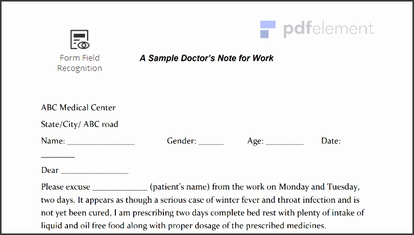 How to Edit Doctors Note for Work Template
