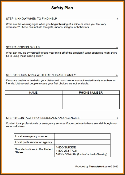 safety plan template preview safety plan template