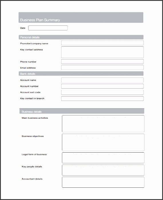 Sample Service Business Plan Template 7 Free Documents View r