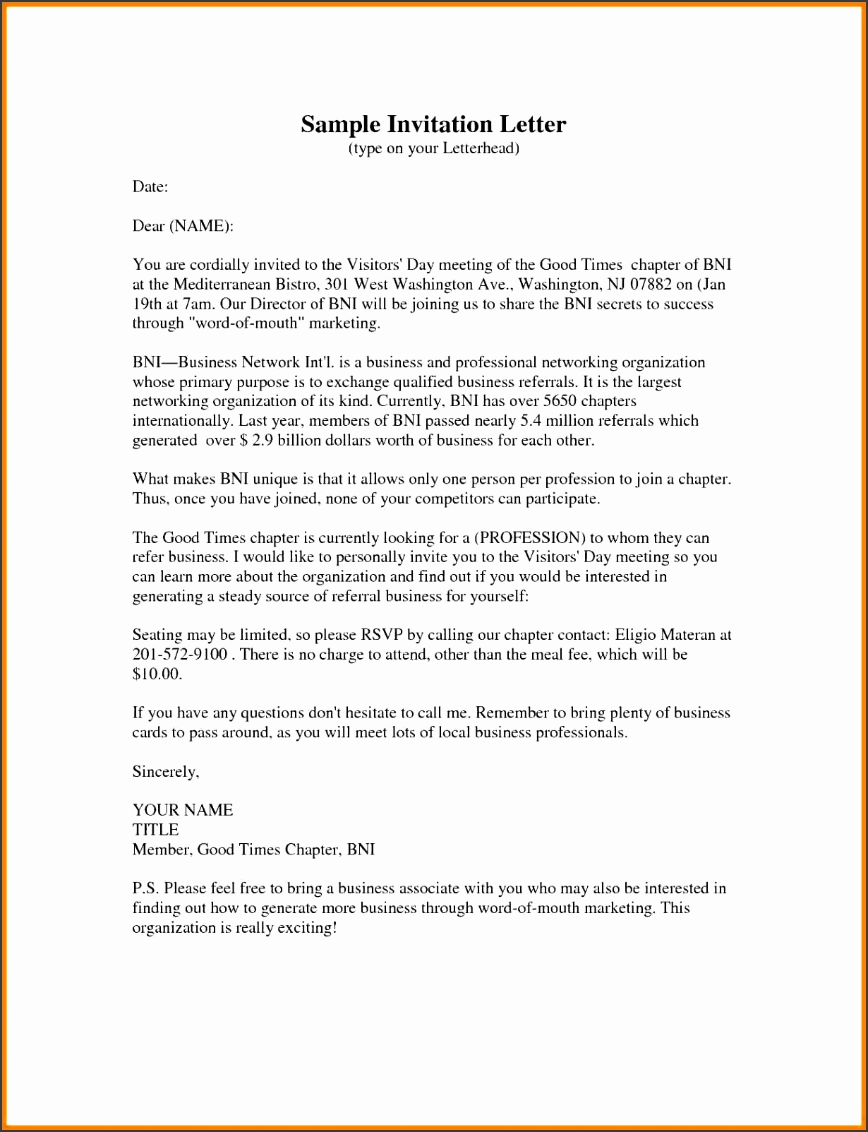 11 formal Invitation for Meeting Best Ideas formal Business Invitation Letter Example A