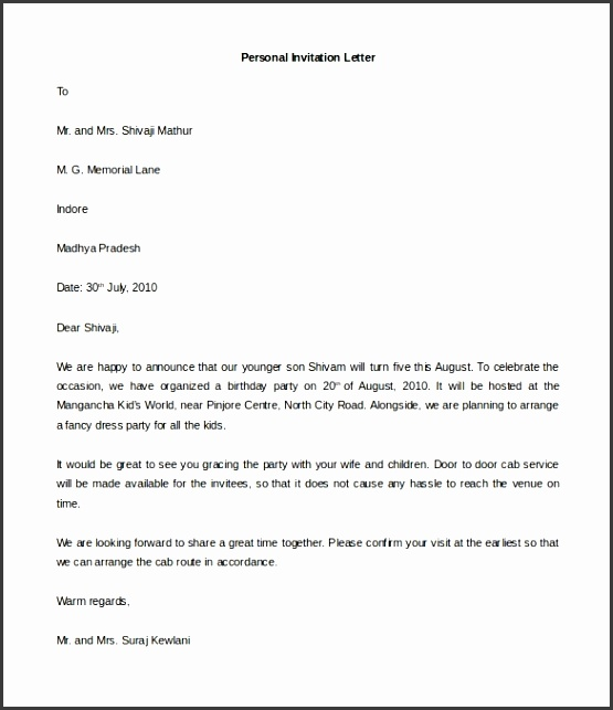 Two Weeks Notice Letter · Personal Formal Letter