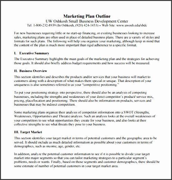 Marketing Report Sample Sample Market Analysis Sample Market
