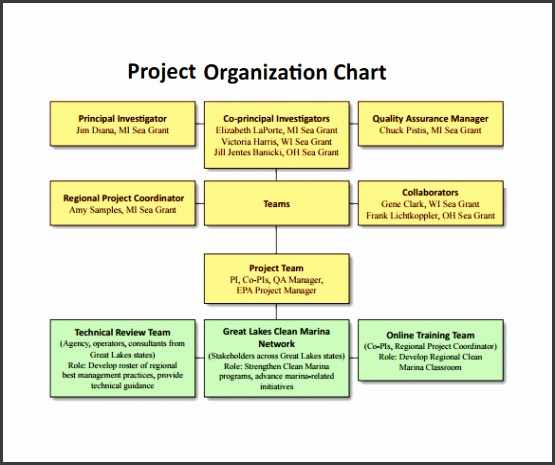 Project Organization Chart Download