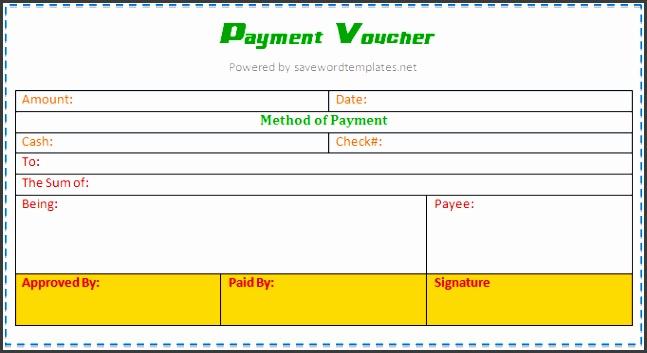 Payment Voucher Template 1