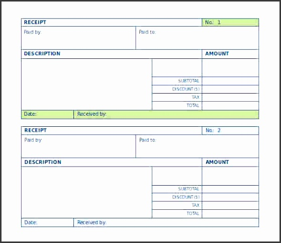 Salary Payment Voucher Template Blank Payment Receipt Template For Word Doc Download