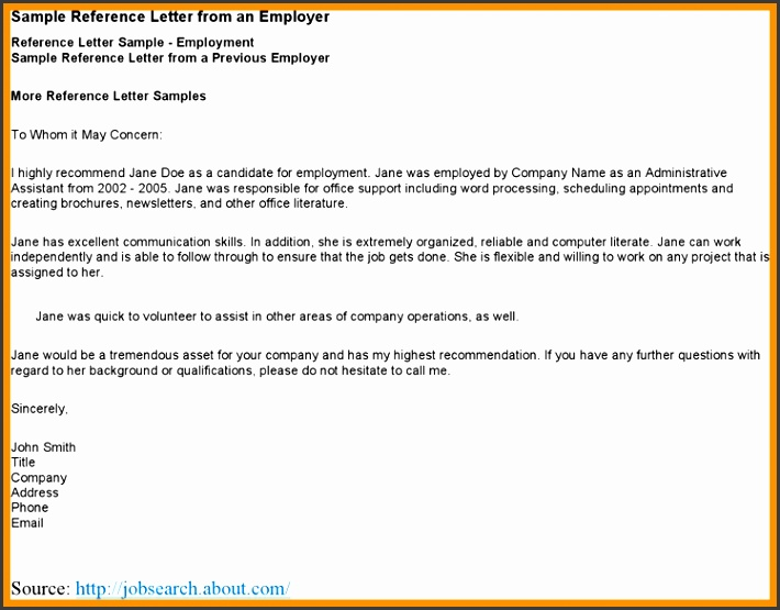 employer reference letter template sample reference letter from