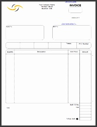 Sales Invoice Form Template