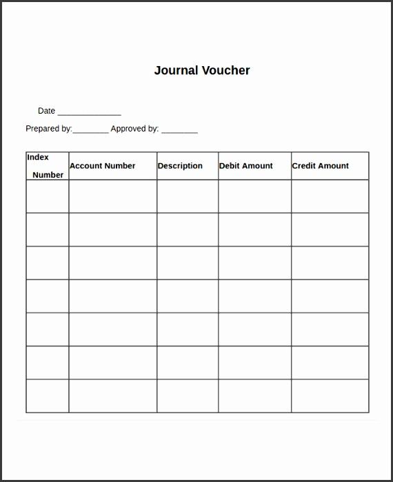 Journal Voucher Template