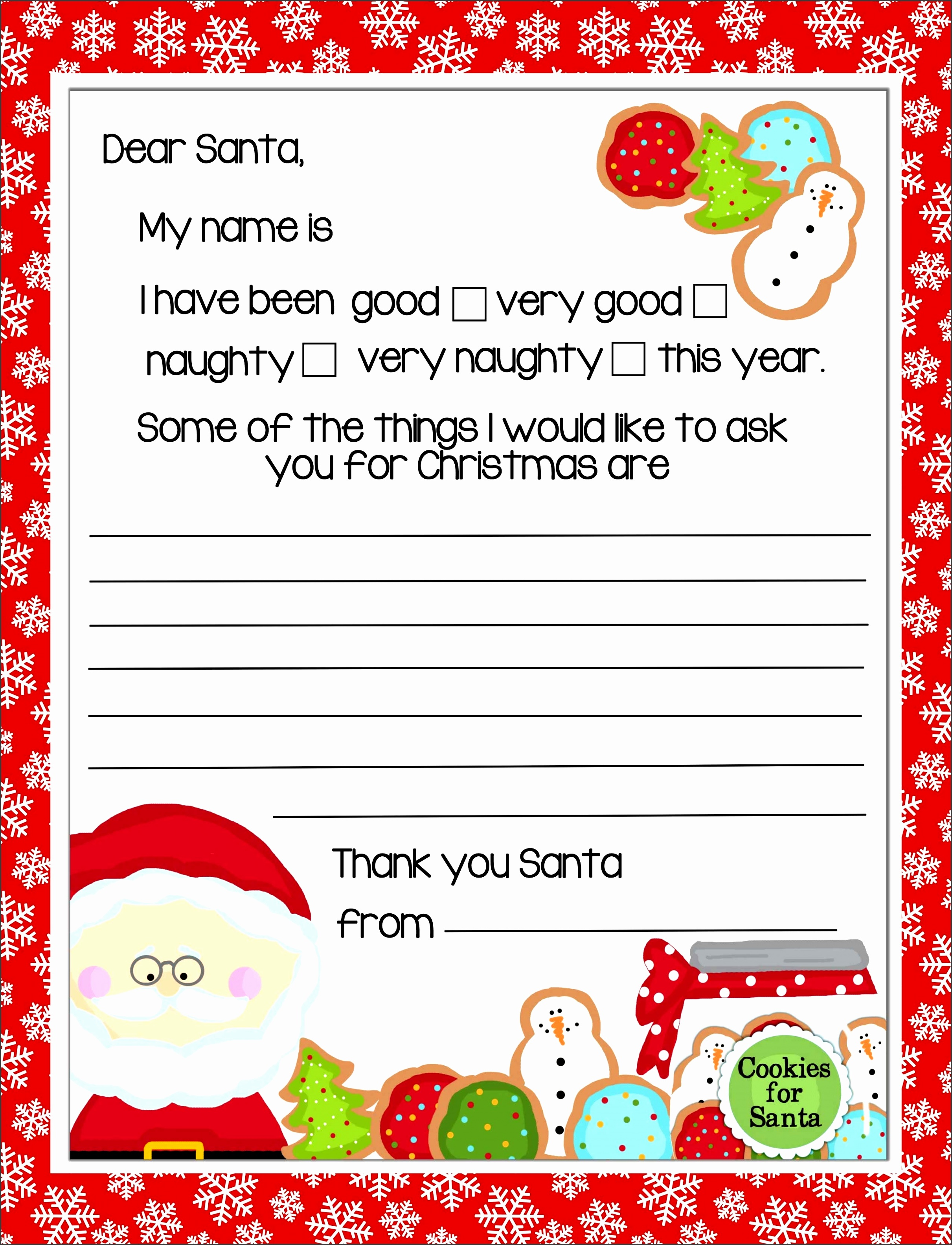 Santa Letter Templates 28 20 Letters To Santa And in Free Printable Letter