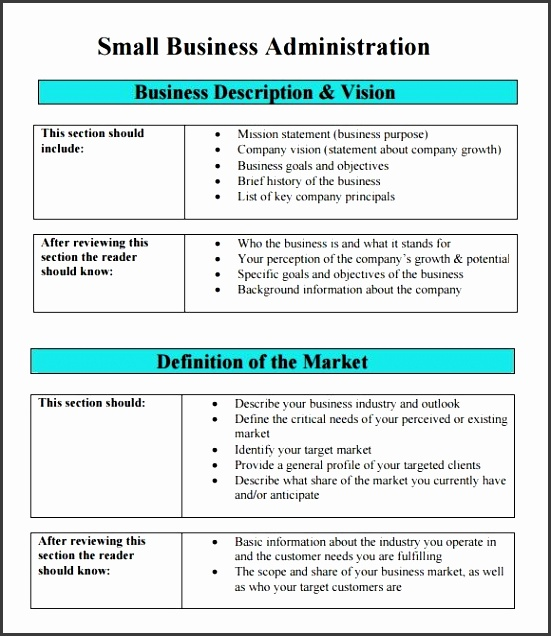 Sample Sba Business Plan Template 9 Free Documents In Pdf Word with regard